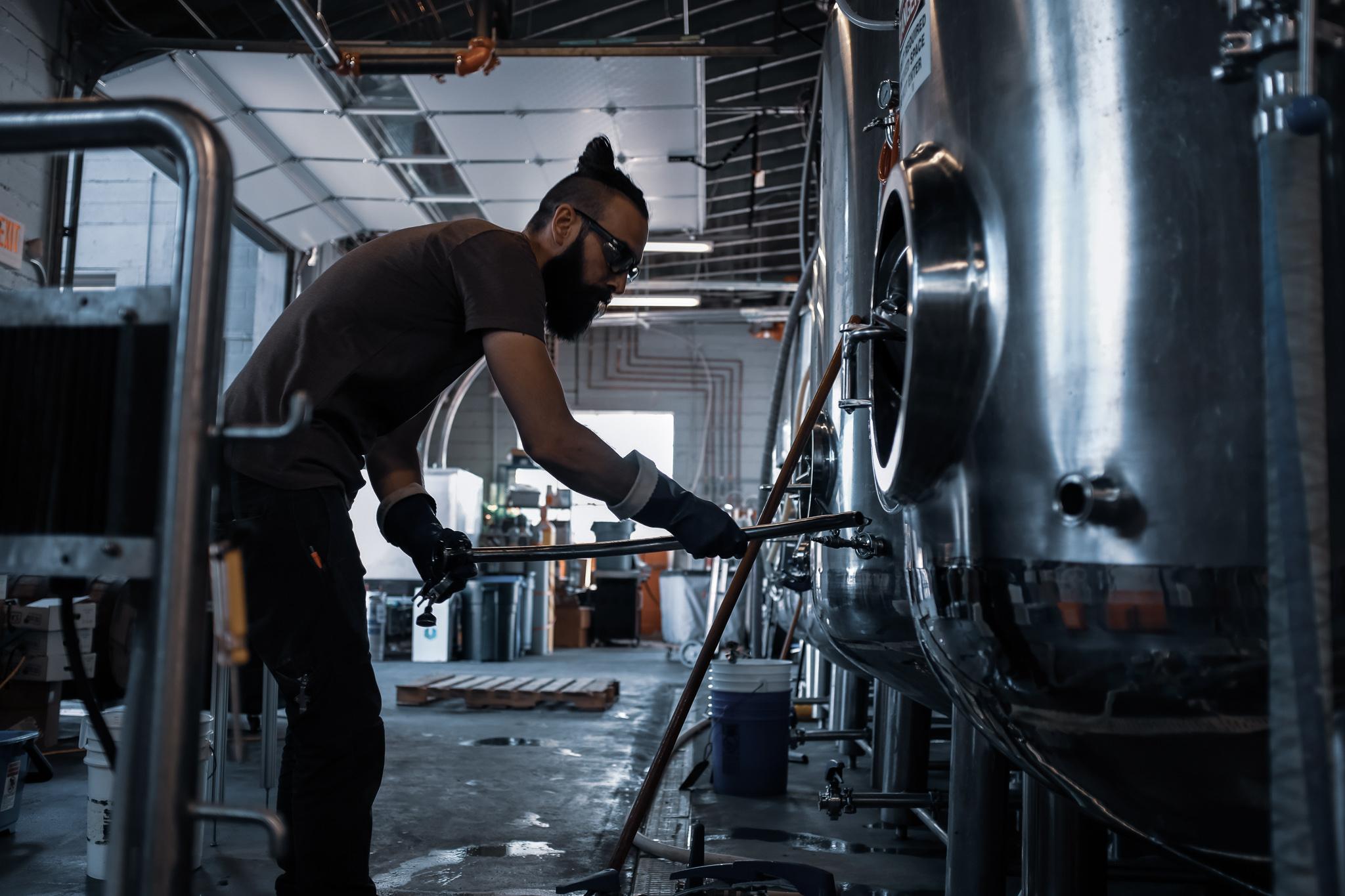 Brewer at work