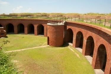 Inside Fort Massachusetts.