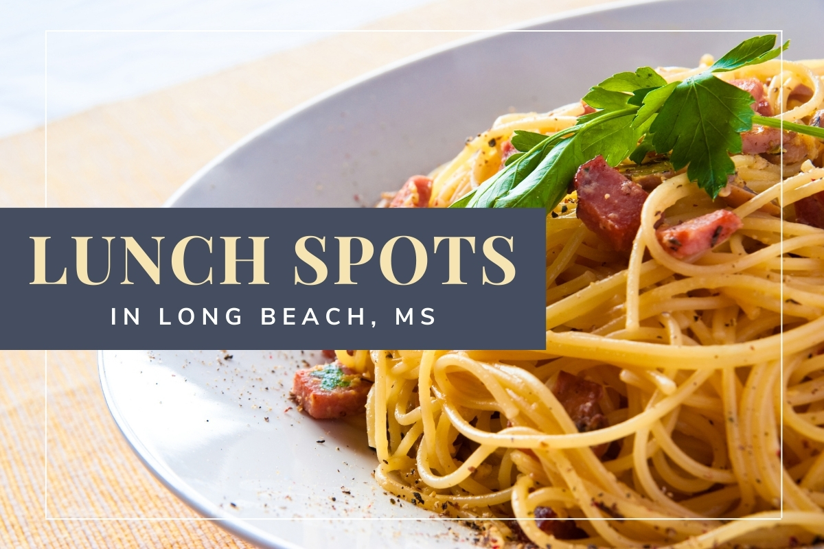 Close up of a delicious pasta dish - Lunch Spots in Long Beach, MS