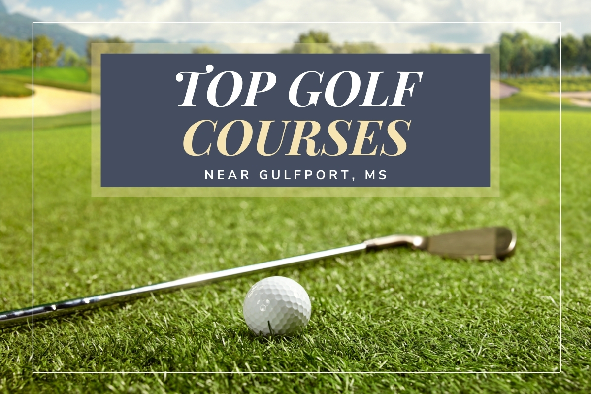 Golf Course with a gold club and a ball - Top Golf Courses near Gulfport, MS