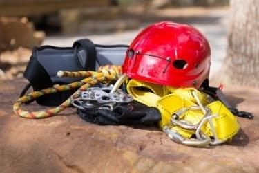 Zip Line equipment - Helmet, Ropes, etc.