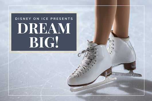 Woman wearing ice skating shoes - Disney On Ice Presents Dream Big!