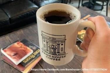 Bankhouse Coffee mug with coffee