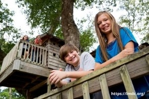 Kids in a tree house