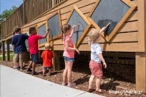 Kids doing outdoor activities