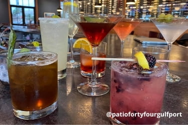 Cocktails from Patio 44 Gulfport