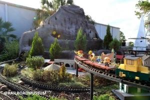 Outdoor exhibition rail