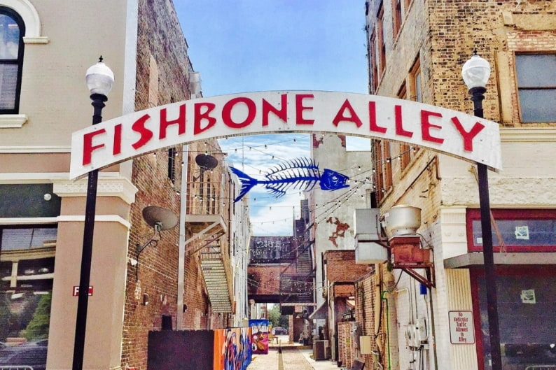 Hotel near Fishbone Alley main entrance