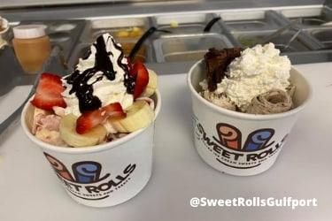 Ice cream rolls from Sweet Rolls Rolled Ice Cream