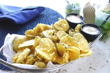 Fried Pickles with Ranch sauce