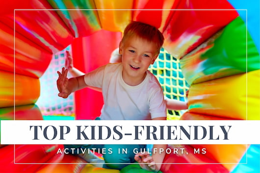 Top Kids-Friendly Activities near Gulfport - Kid inside a colorful tunnel