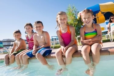 Kids in a water park