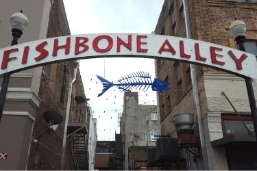 Fishbone Alley Sign
