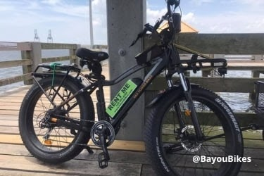 Electric Bike parked in Gulfport Mississippi