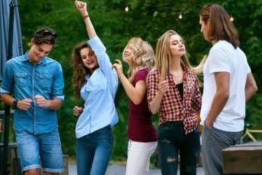 People dancing outdoors