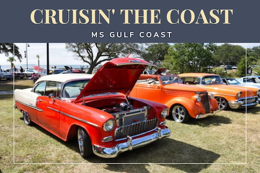 Cruisin' The Coast MS, Gulf Coast - Cars parked in the park