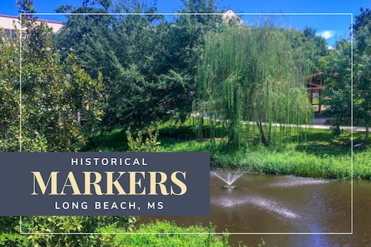 Historical Markers at Long Beach, MS - Bear Point Bayou