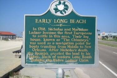 Early Long Beach Sign
