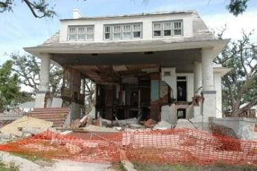 House destroyed by hurricane Katrina