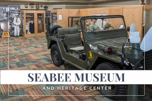 Seabee Museum and Heritage Center - Jeep inside the museum