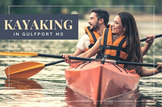 Kayaking in Gulfport, MS - Couple kayaking