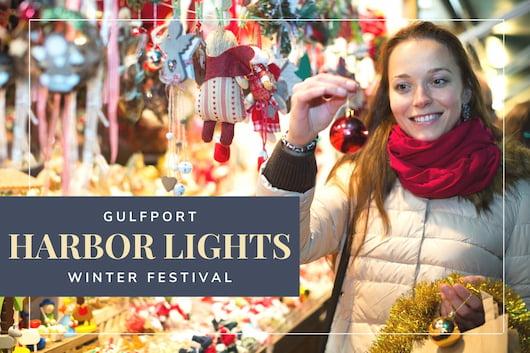 Gulfport Harbor Lights Winter Festival - Woman buying ornaments