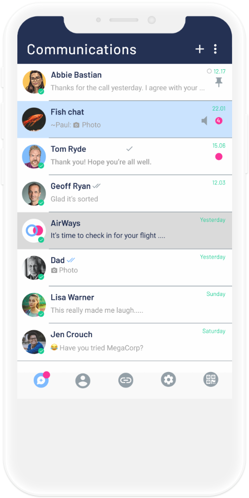 Self app connections screen