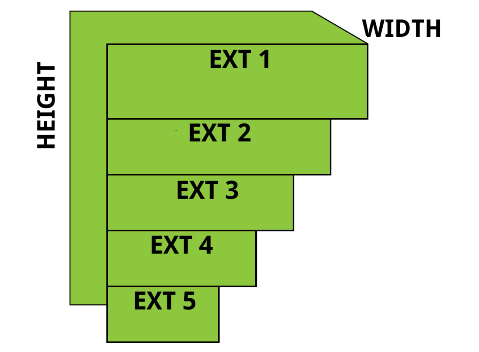86 inch stack it window well illustration