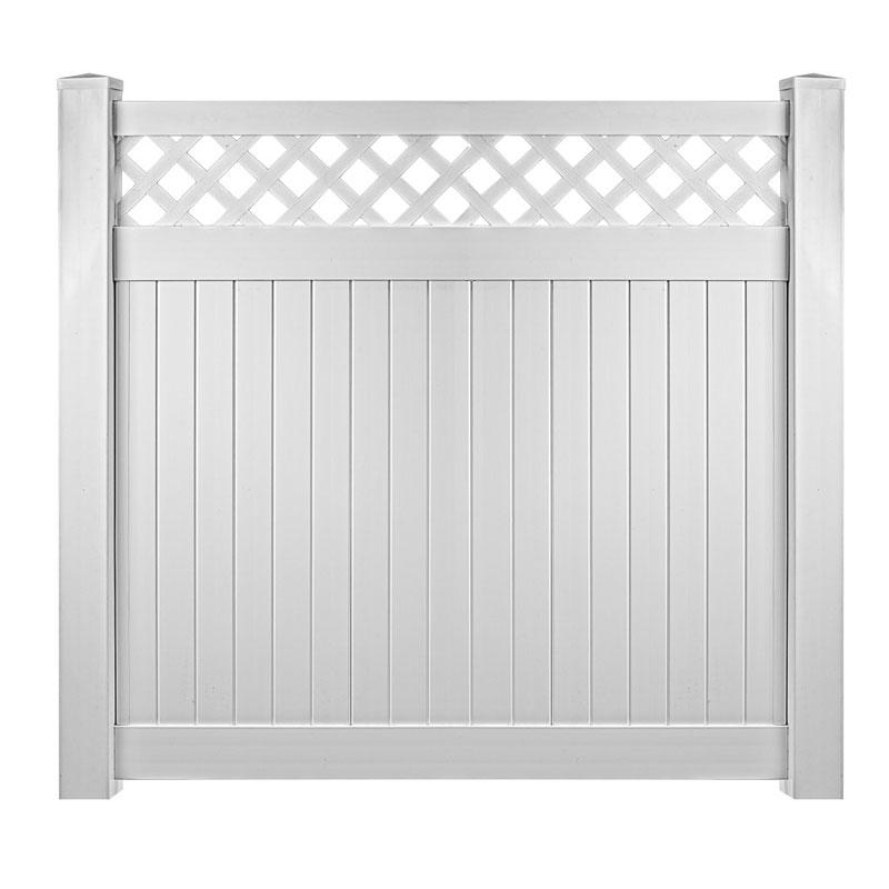 Vinyl Window Wells white vinyl fence with lattice