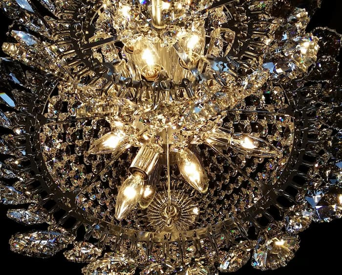 Dining room chandelier cleaning