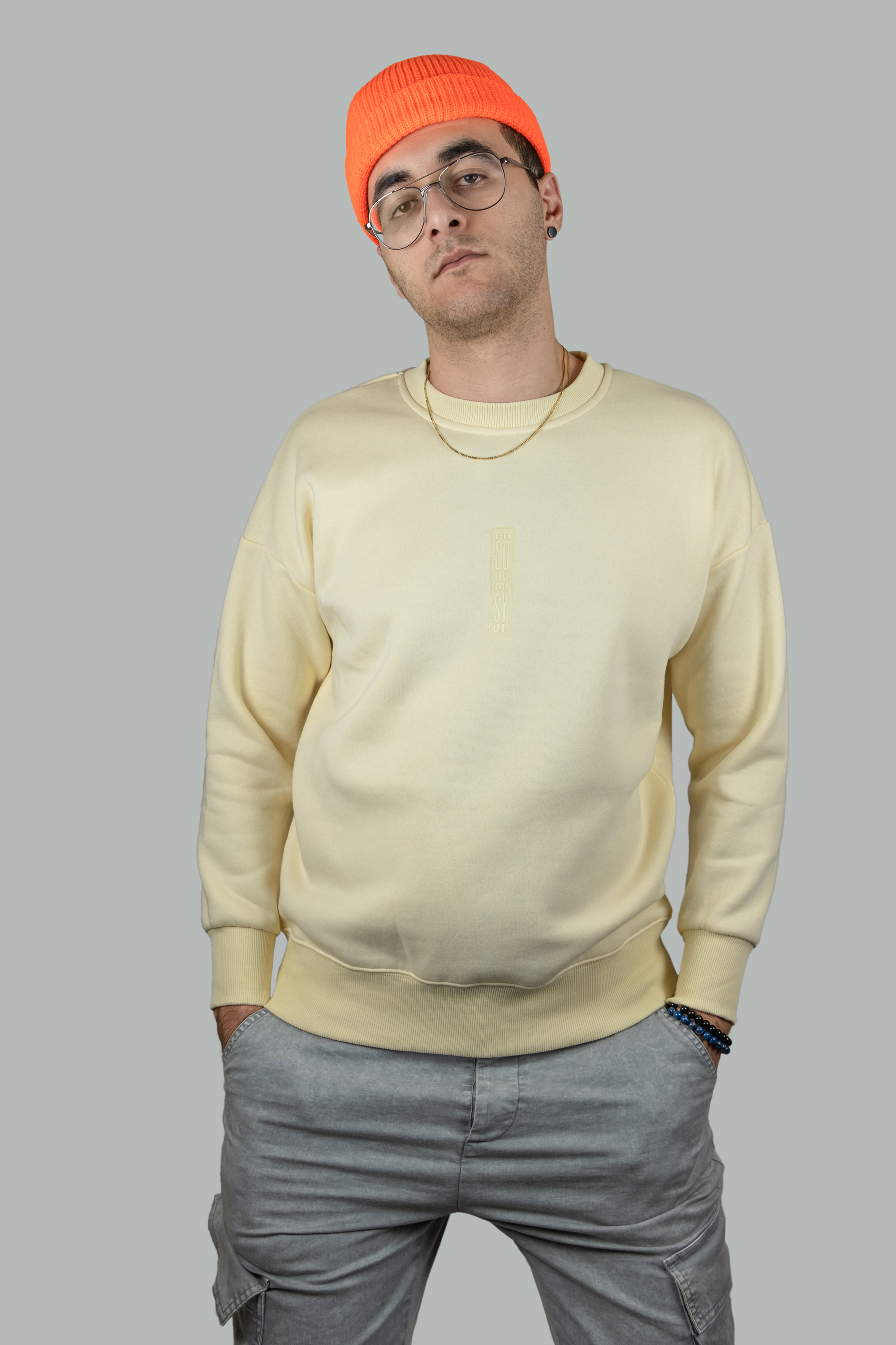 Heavyweight Crewneck Sweatshirt in Cream