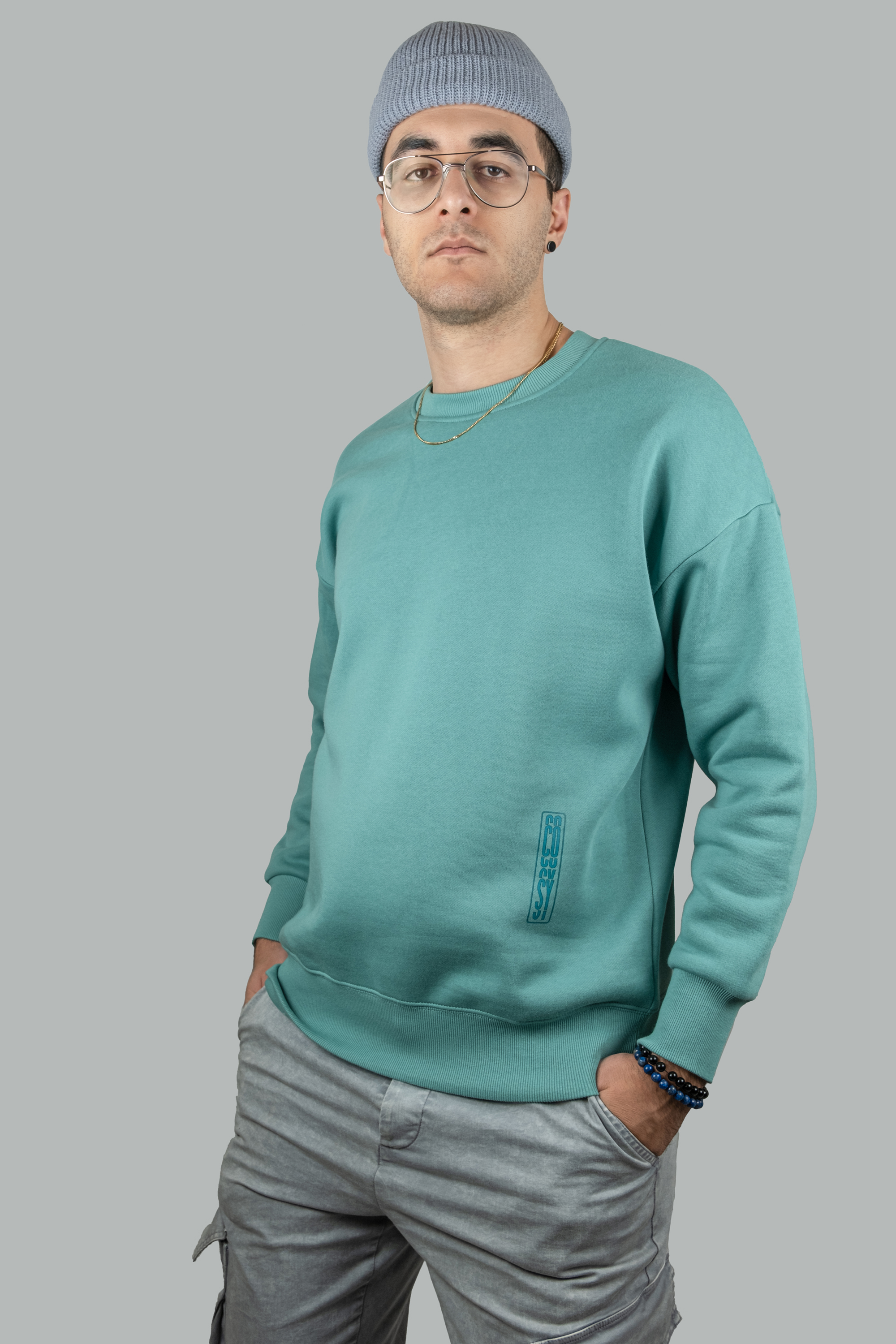 Heavyweight Crewneck Sweatshirt in Aqua Green