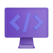 Computer icon with code symbol