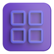 Icon with four squares