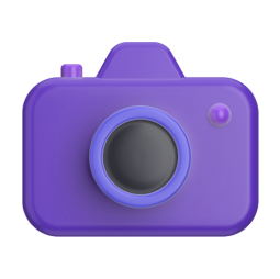 Stylized purple camera