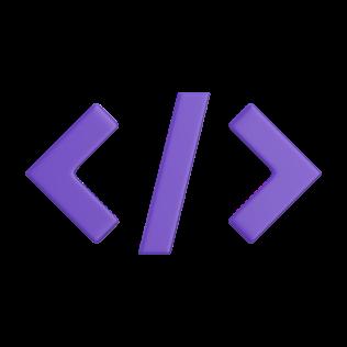 "Code brackets icon ""< / >"""