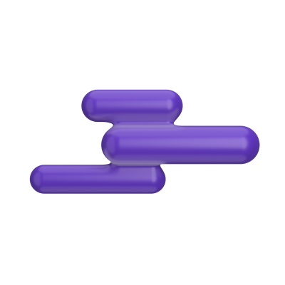 Stylized purple cloud