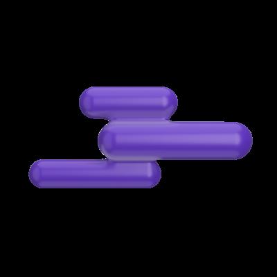 Stylized purple cloud