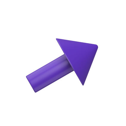 Purple arrow angled upwards and to the right