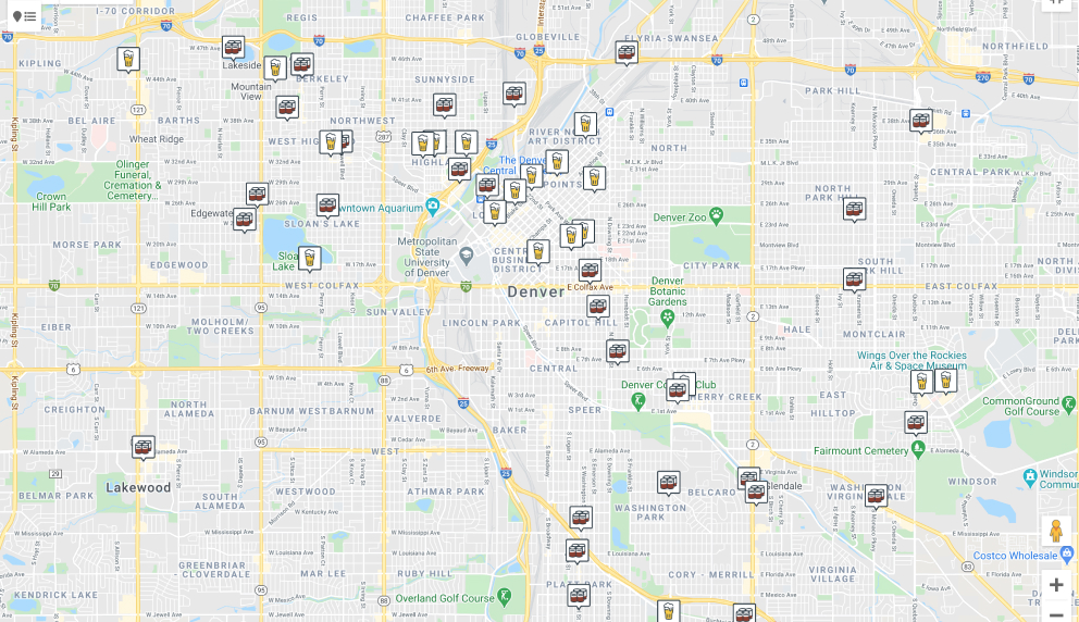 """Find the beer"" tool, a map of retail and on-tap locations for specific beers."