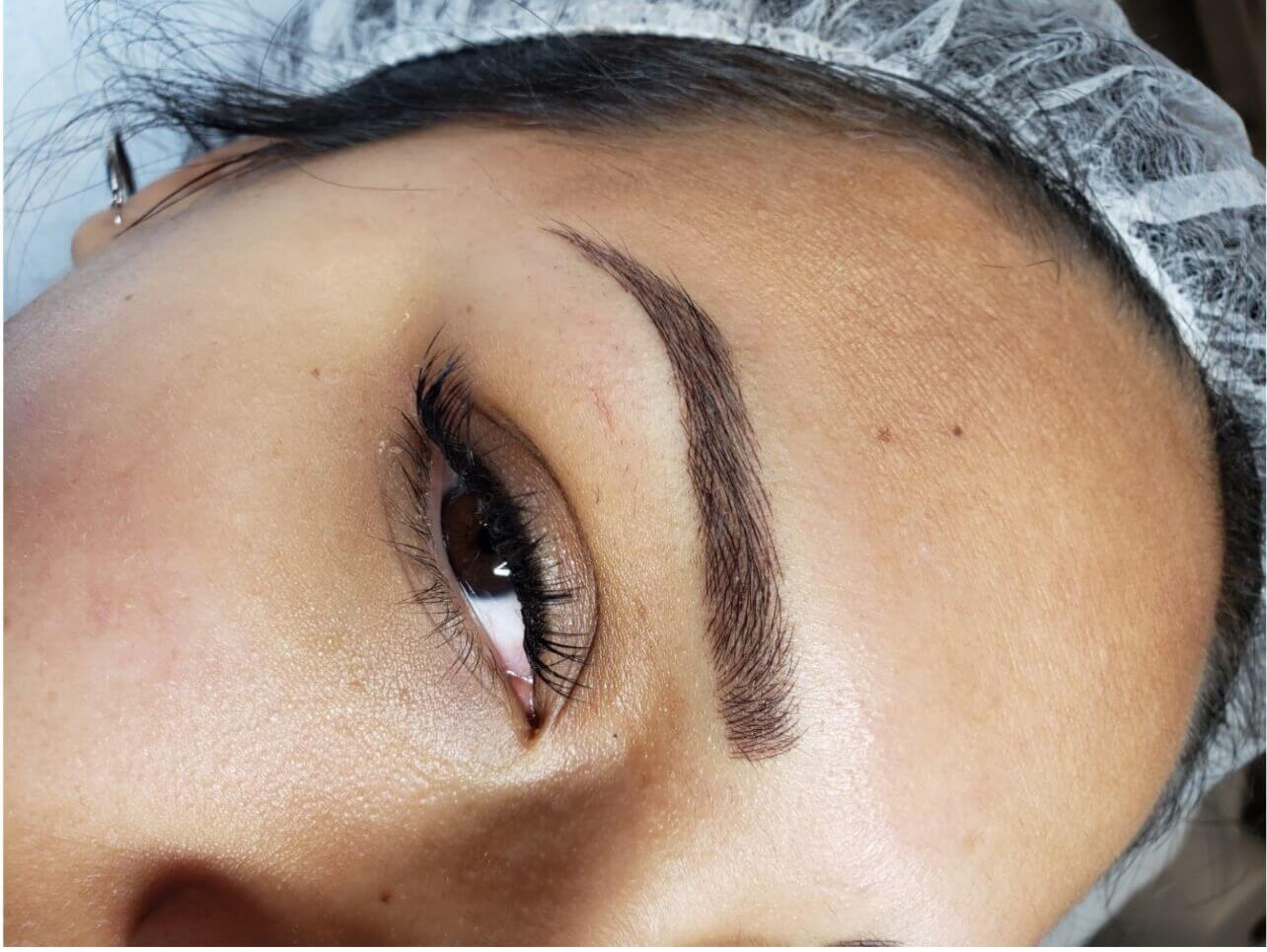 Perfect Brows After Permanent Makeup Procedure