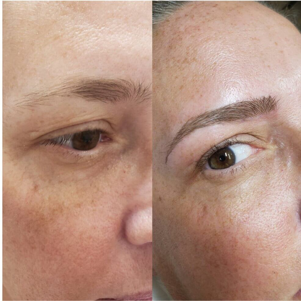 Amazing Brow Transformation At the Top PMU Salon of Illinois