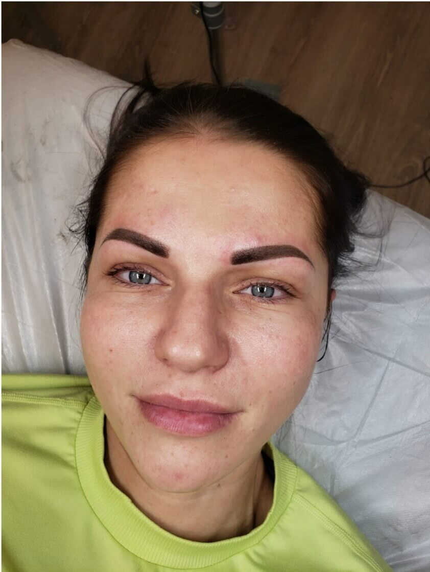 Beautiful Brows after Semi-Permanent Brow Tattooing Procedure