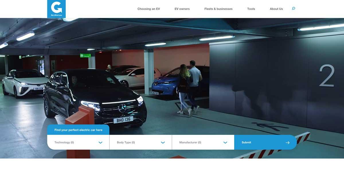 Go Ultra Low website screenshot