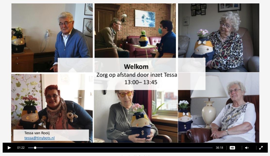 Webinar Slimme Zorg Estafette - Tessa