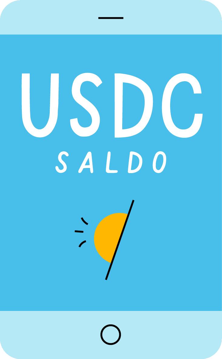 Tu saldo de USDC - Vibrant app