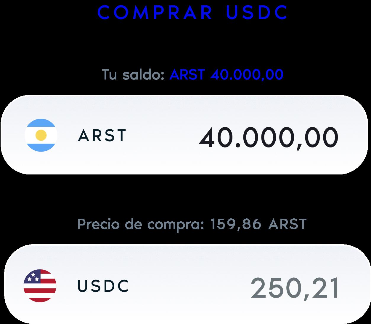 Comprá USDC