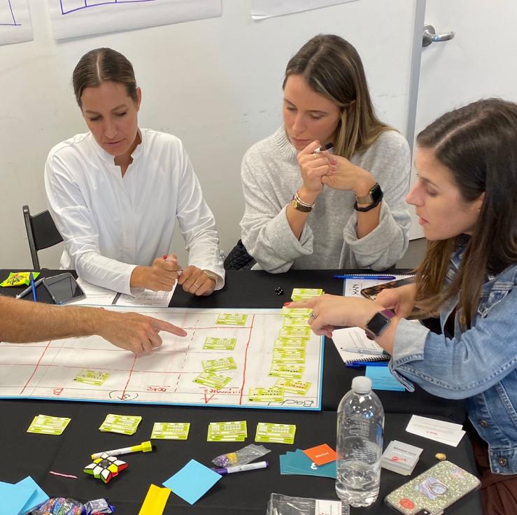 A team going through the Workflow System Design sprint