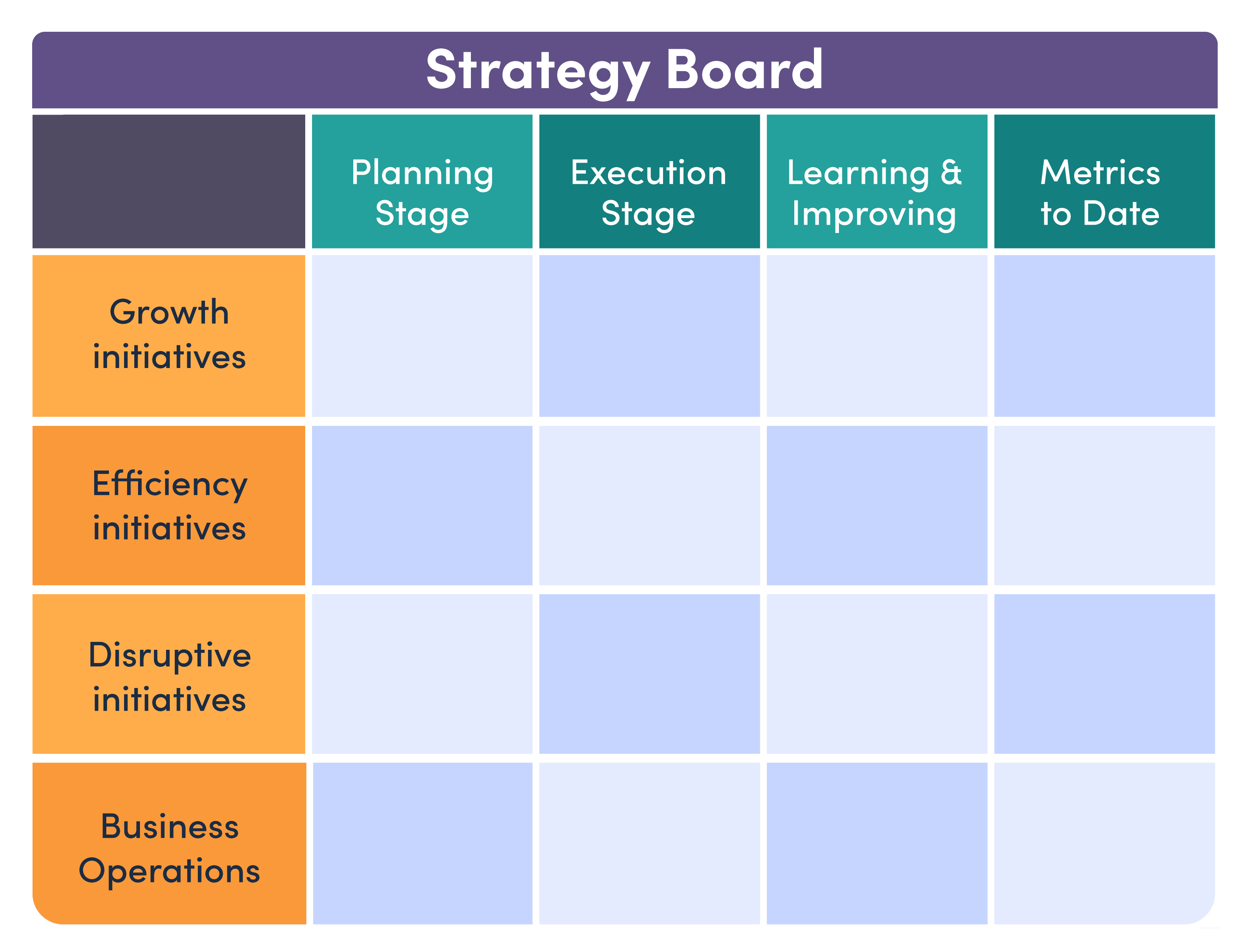 Spot illustration of a strategy board