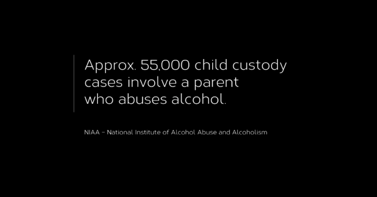 55,000 Child custody cases involve a parent who abuses alcohol